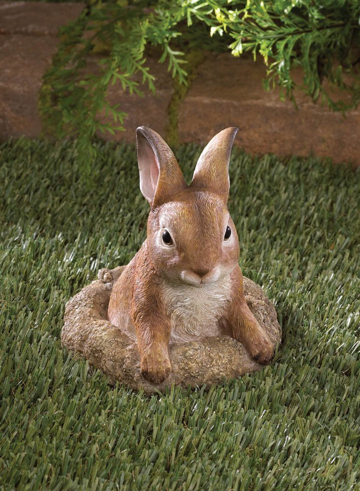 Image 0 of Curious Bunny Garden Lawn Figurine Statue