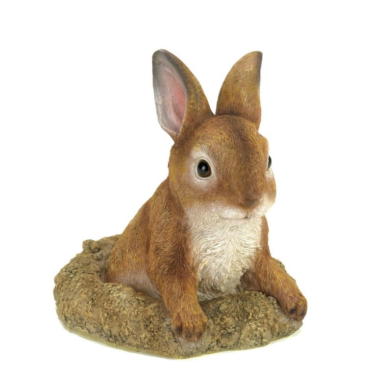 Image 1 of Curious Bunny Garden Lawn Figurine Statue