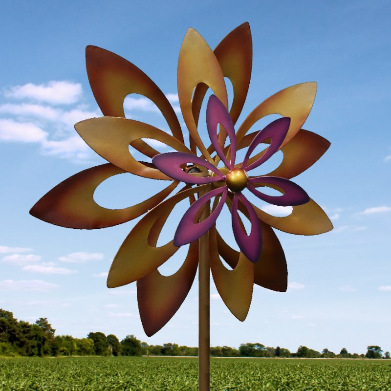 Iron sunflower windmill