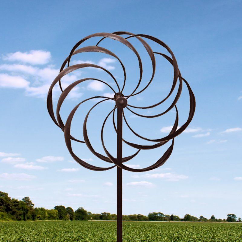 Dancing Pinwheel Garden Stake Windmill Stands 7 Feet High
