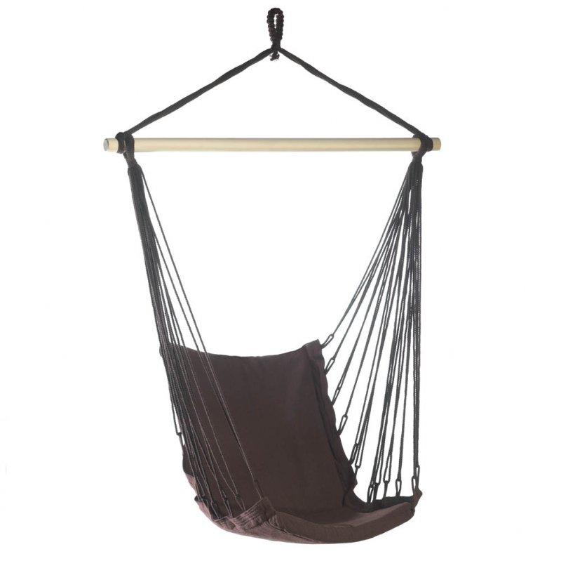 '.Brown Padded Swing Chair.'