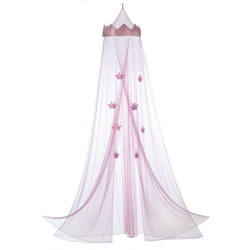 Image 1 of Pink Princess Crown Bed Netting Canopy