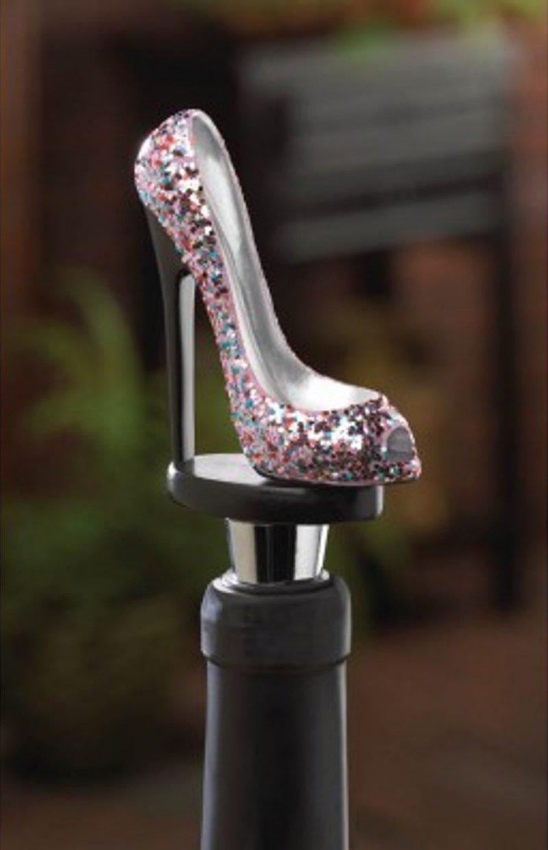 Image 0 of Glitter High Heel Shoe Wine Bottle Stopper