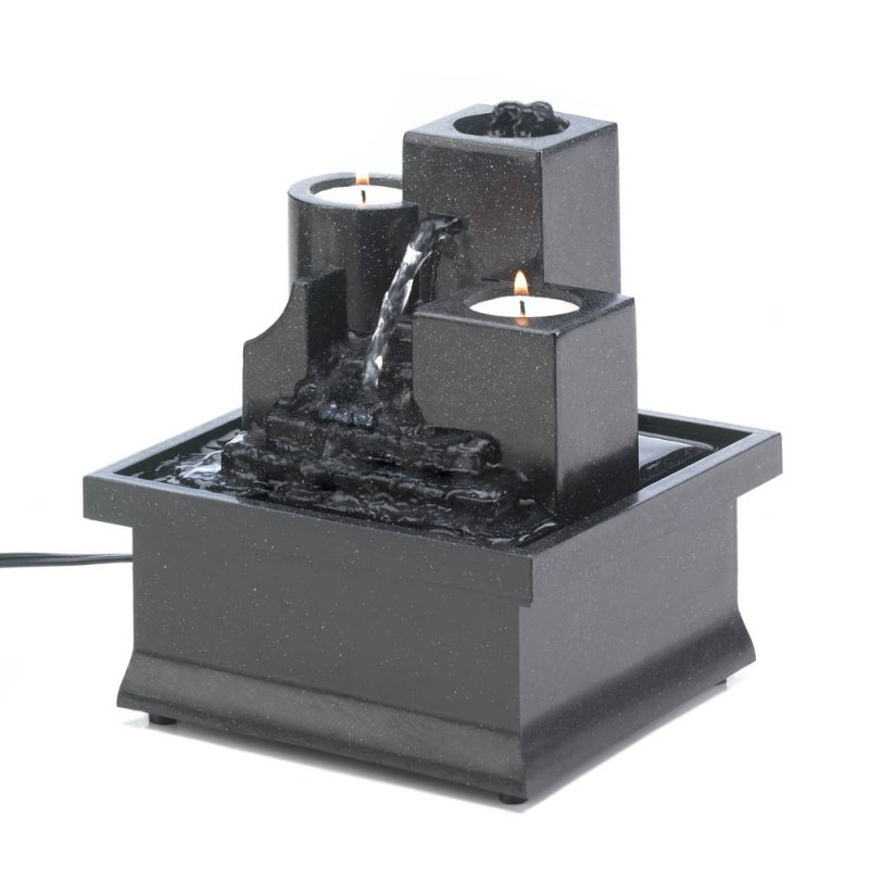 Image 0 of LED Temple Steps Tealight Indoor Tabletop Fountain