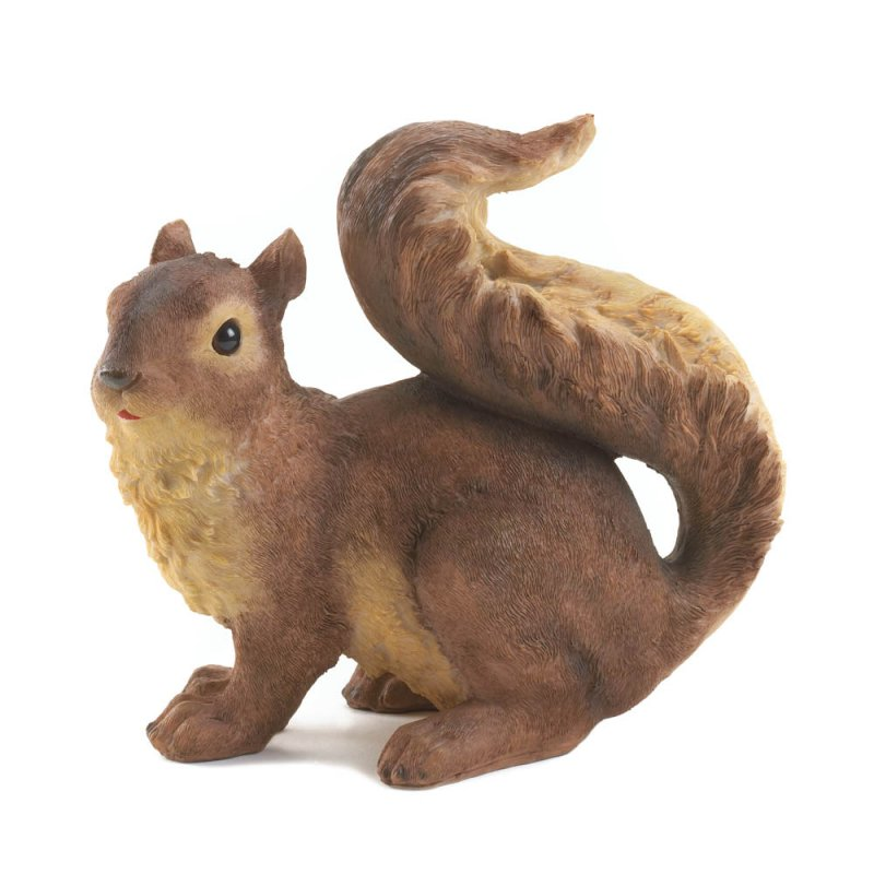 Image 1 of Curious Squirrel Porch or Garden Statue Figurine
