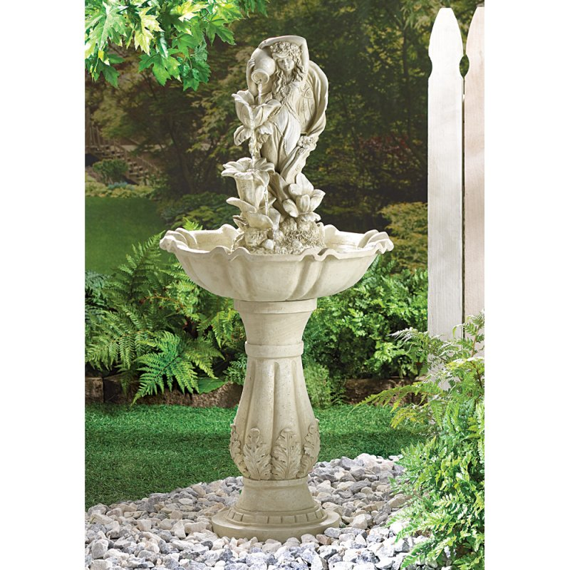 Fairy Maid with Urn Water Fountain Pump Included