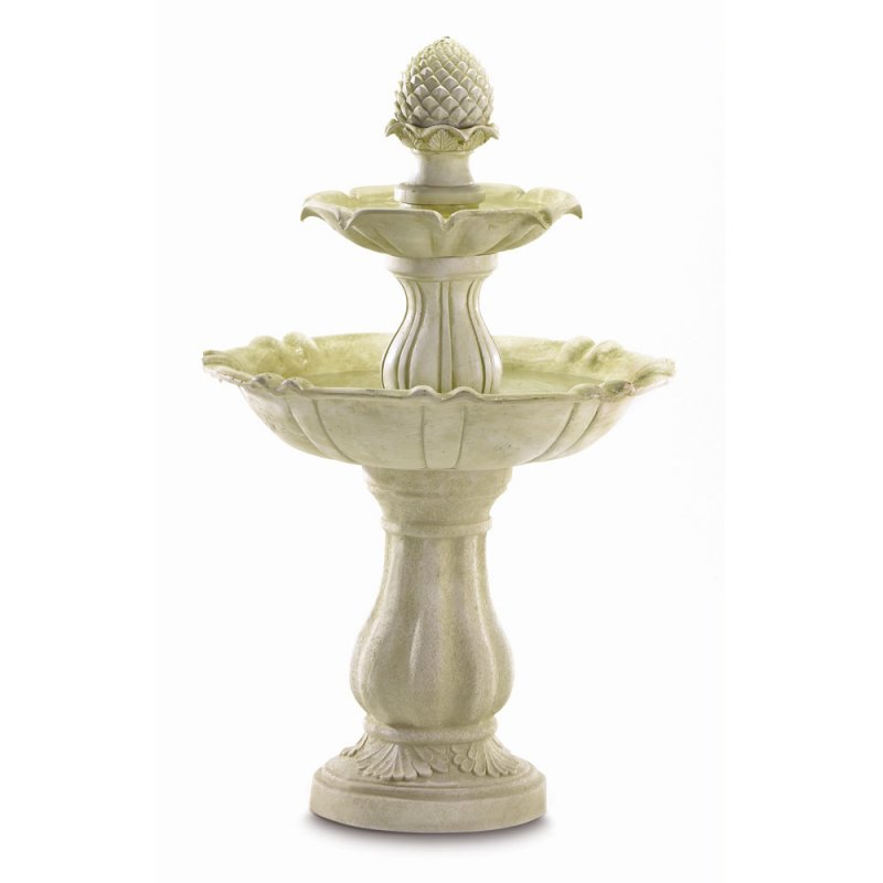 Image 1 of 3-Tier Pineapple Acorn Outdoor Water Fountain Pump Included