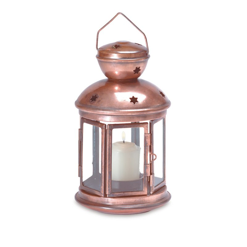 Image 1 of Colonial Style Bronze Color Candle Lantern Use Indoors or Outdoors