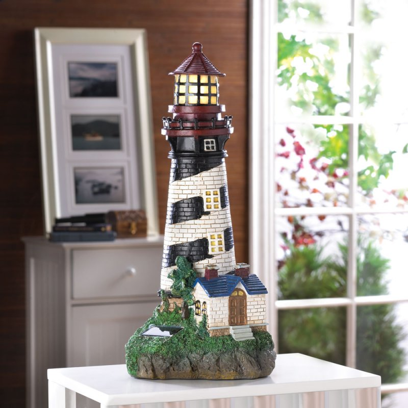 Lighthouse Solar Garden Lamp Garden Statue