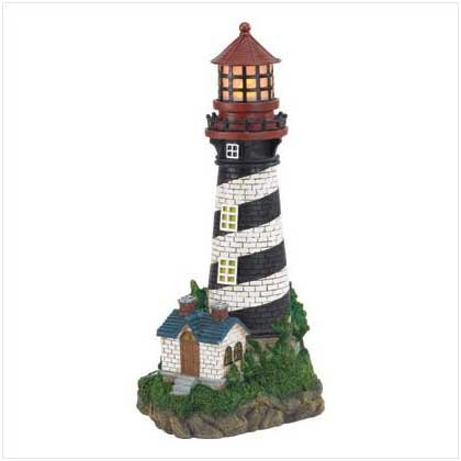 Image 1 of Lighthouse Solar Garden Lamp Garden Statue