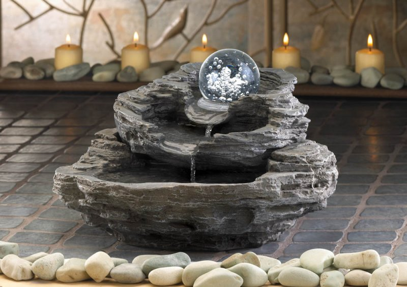 Image 0 of Rock Waterfall Tabletop Fountain Pump Included