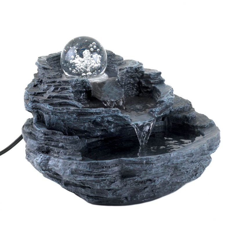Image 1 of Rock Waterfall Tabletop Fountain Pump Included