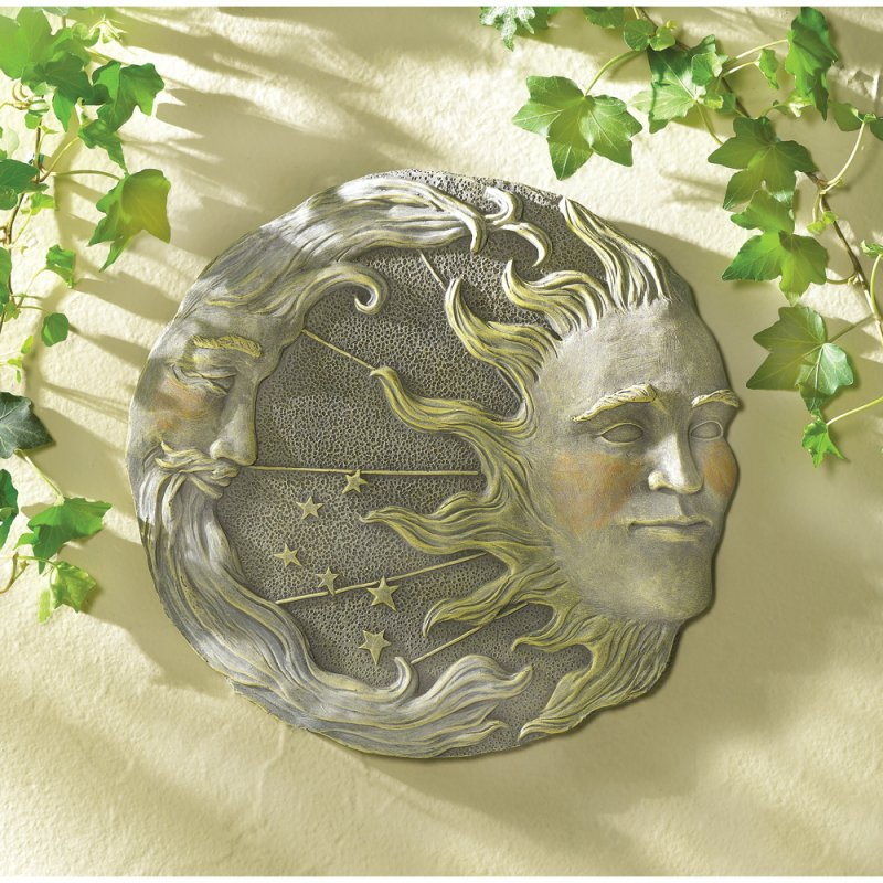 Image 0 of Sun Moon and Stars Garden Wall Plaque