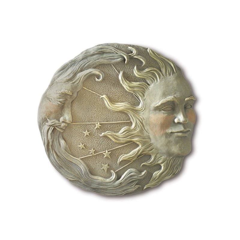 Image 1 of Sun Moon and Stars Garden Wall Plaque