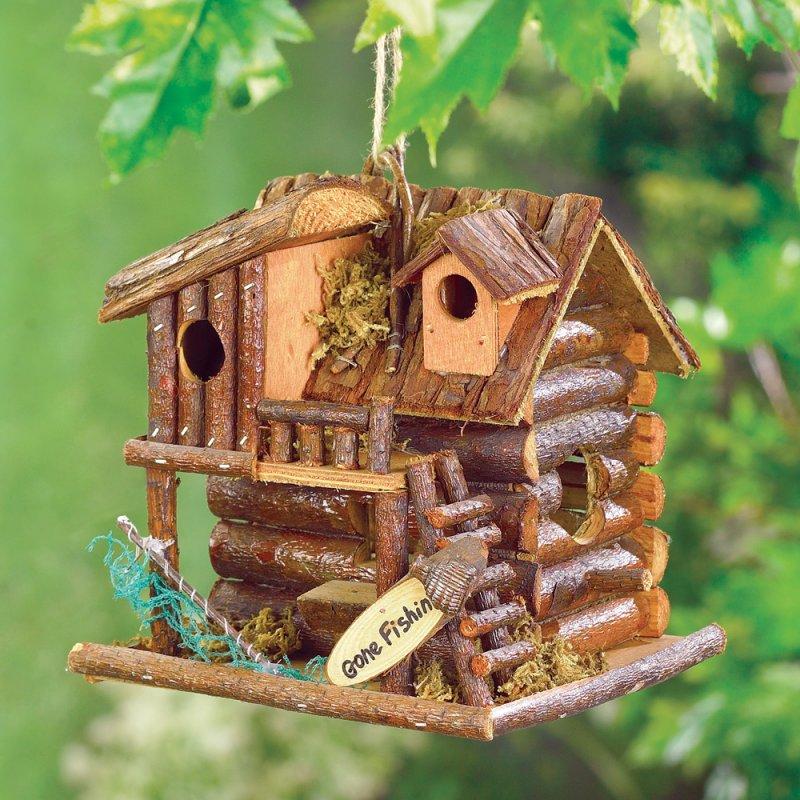 Image 0 of Gone Fishin Cabin Birdhouse