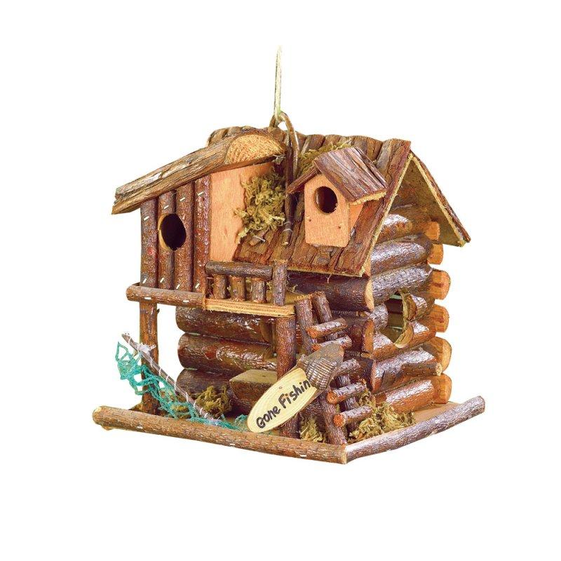 Image 1 of Gone Fishin Cabin Birdhouse