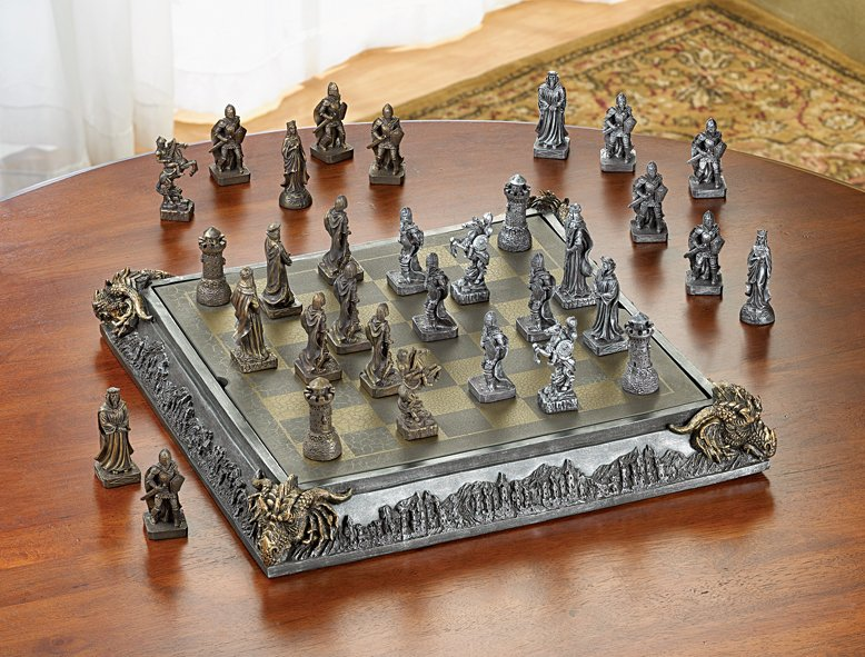 Image 2 of Knights & Dragons Medieval Chess Chest