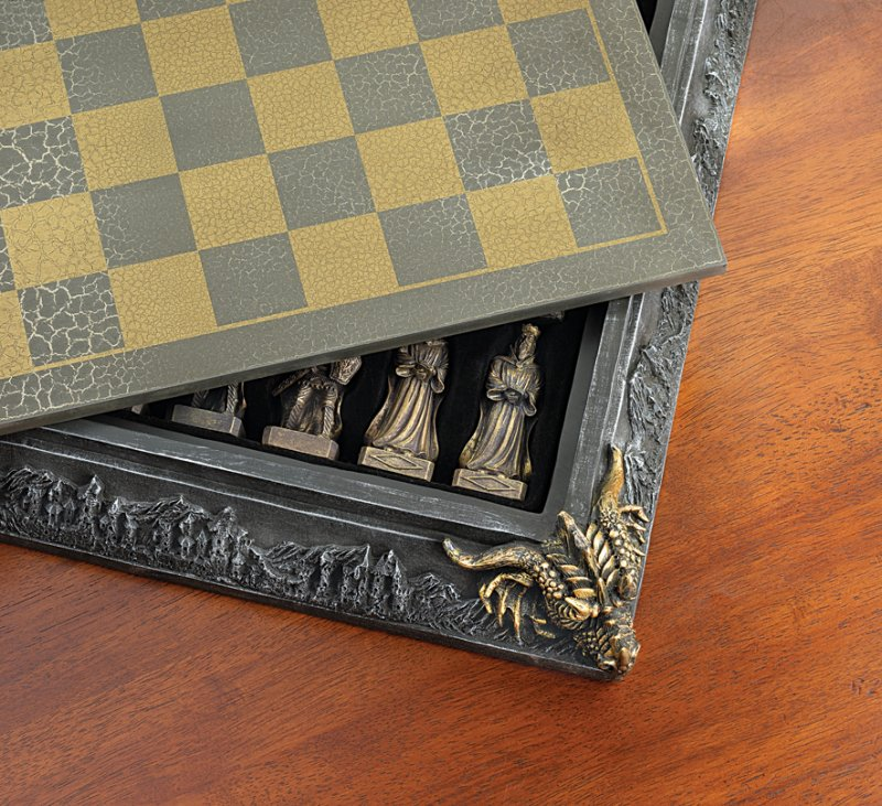 Image 3 of Knights & Dragons Medieval Chess Chest