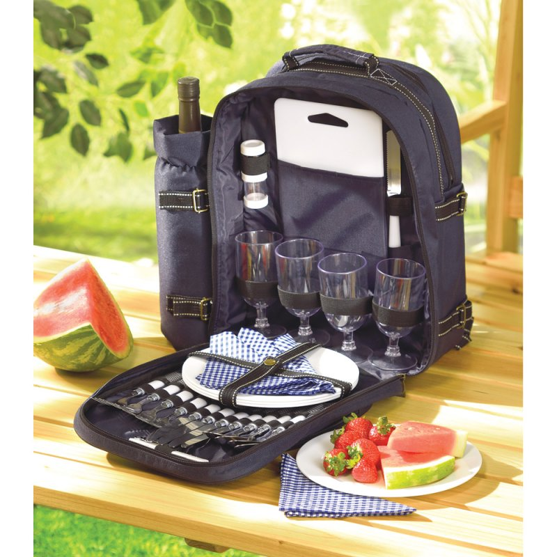 Image 0 of Picnic Set for Four with Back Pack