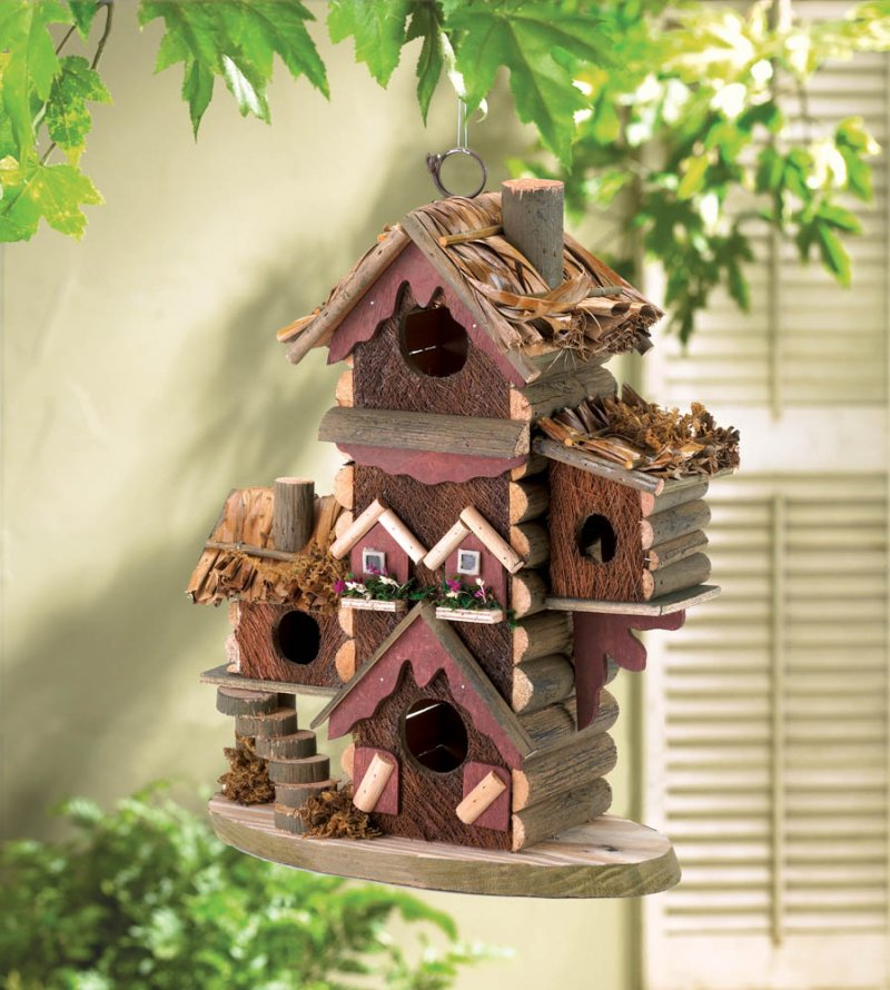 Gingerbread Condo Design Birdhouse