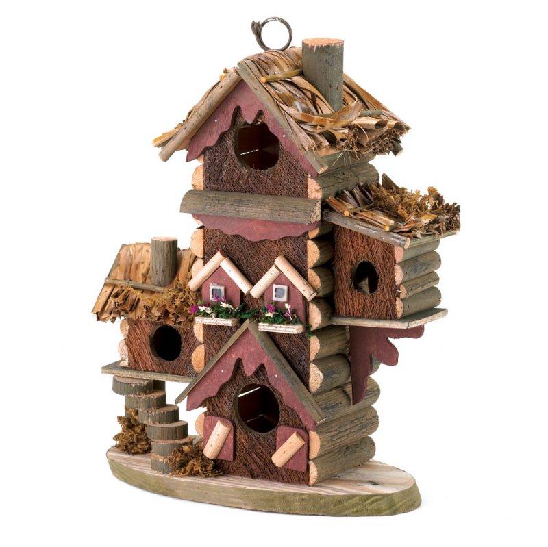 Image 2 of Gingerbread Condo Design Birdhouse