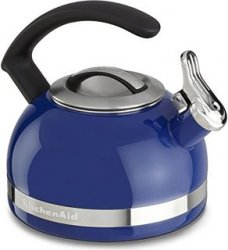 KitchenAid 2 Quart Kettle - Stainless Steel and Blue Kettle