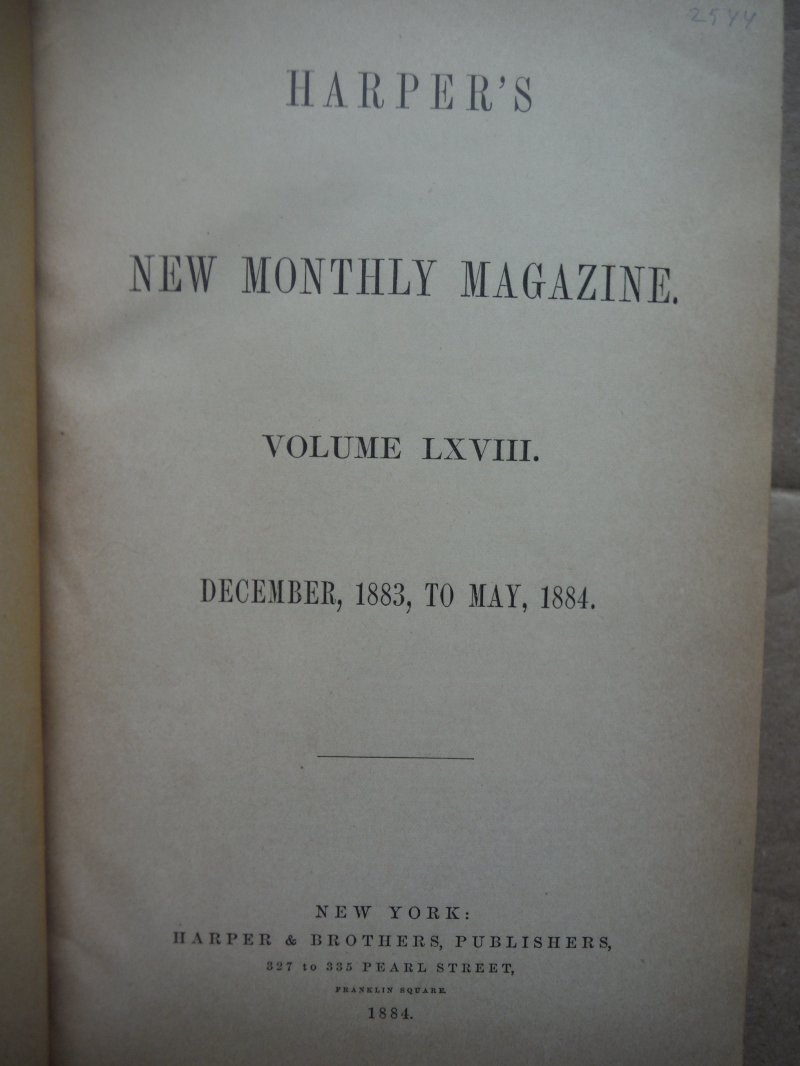 Image 1 of Harper's New Monthly Magazine, Volume XLVIII. December 1873 to May 1874