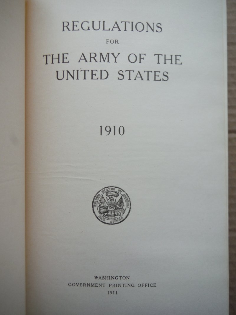 Image 1 of Regulations for the Army of the United States 1910.