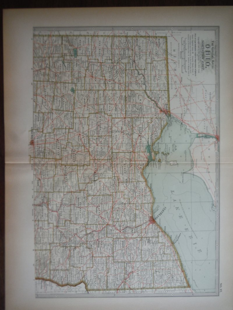 The Century Atlas  Map of Ohio,  Northern Part (1897)