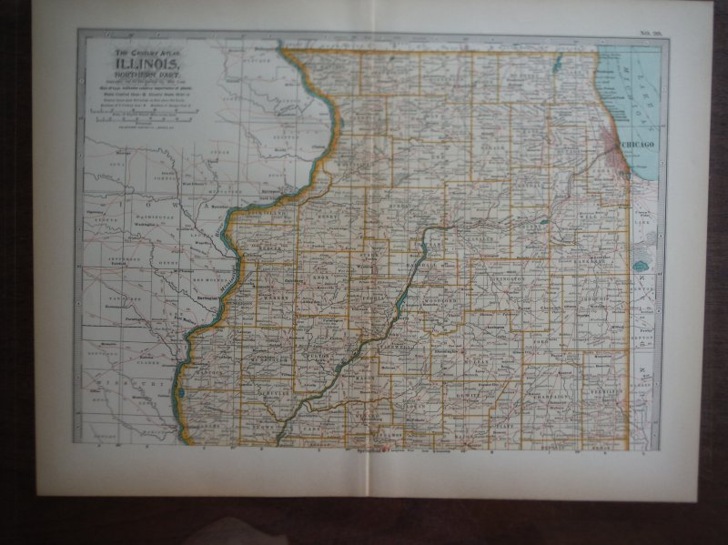 The Century Atlas  Map of Illinois Northern Part (1897)