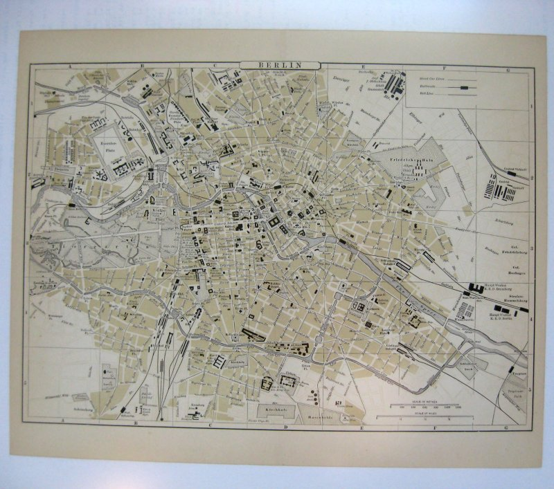 Johnson's Map of Berlin  (Germany)  -  Original (1897)