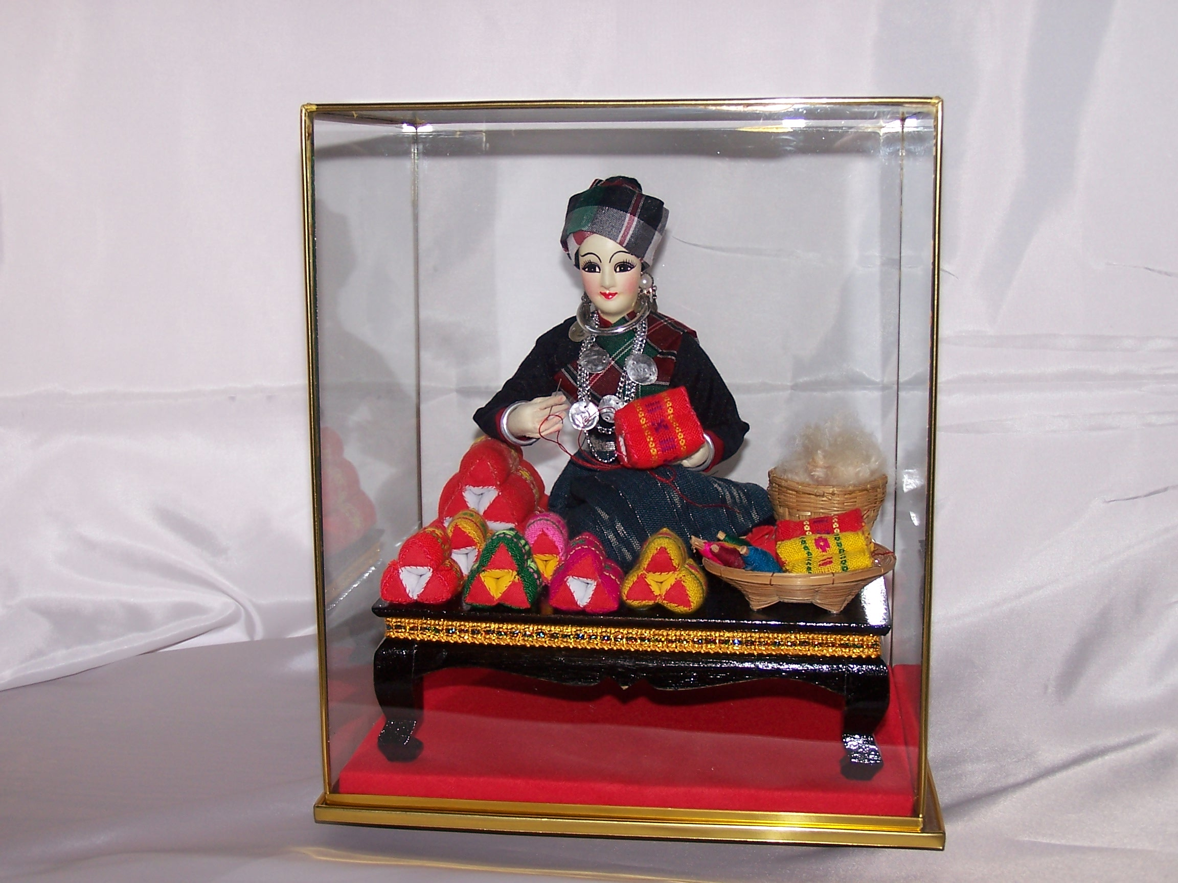 Image 8 of Oriental Seamstress Doll in Case