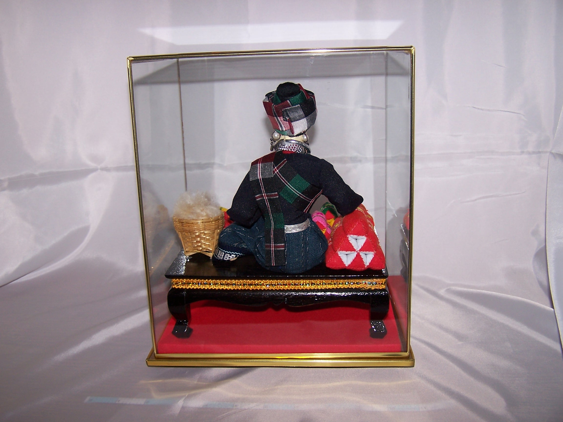 Image 6 of Oriental Seamstress Doll in Case