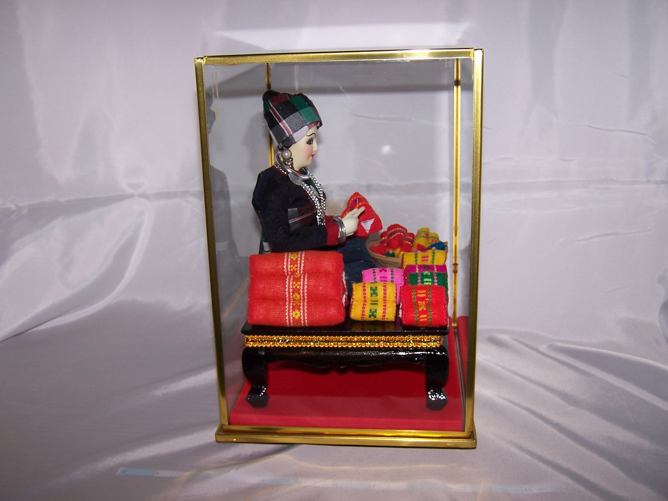 Image 7 of Oriental Seamstress Doll in Case