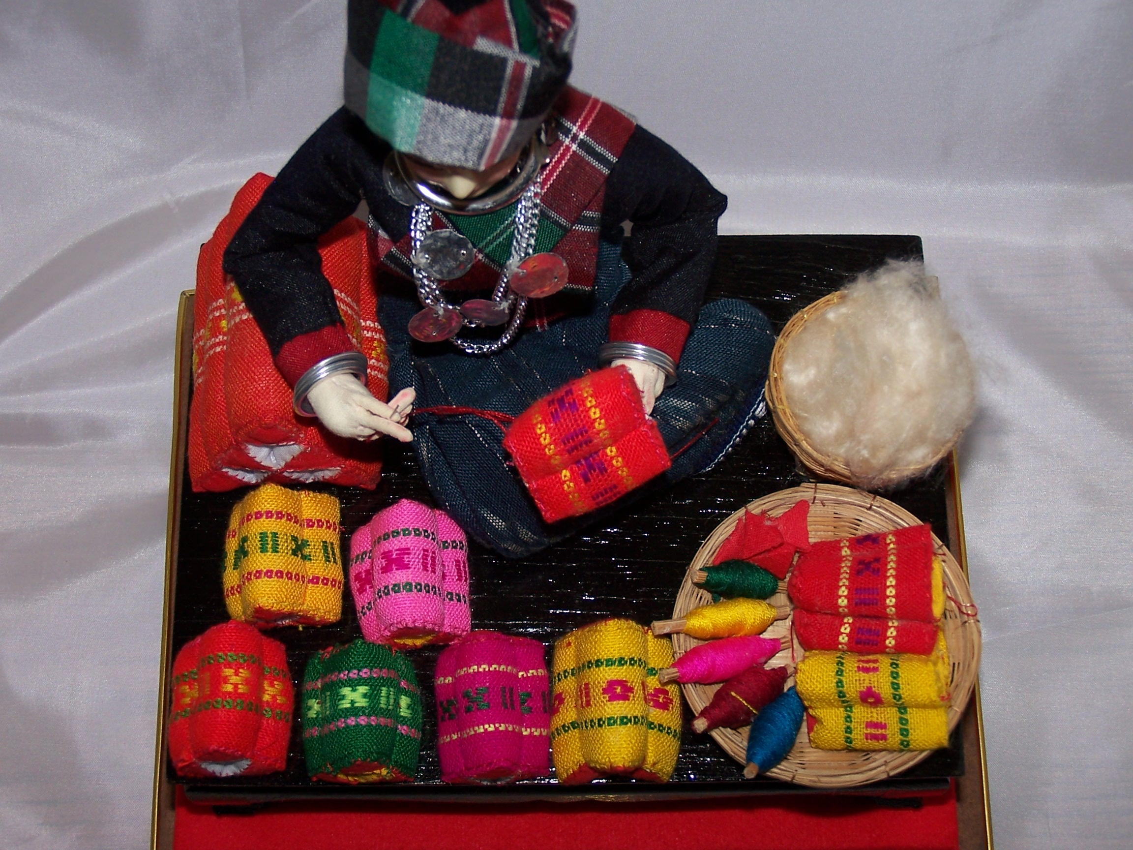 Image 4 of Oriental Seamstress Doll in Case