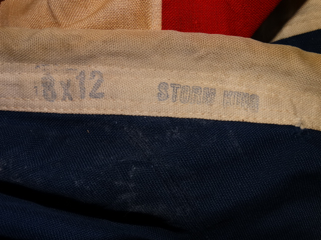 Image 7 of WWII Era 48 Star American Flag Sewn Cloth, Garrison Size