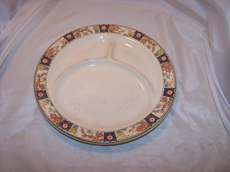 Image 3 of Canonsburg China Divided Dinner Plates, Antique