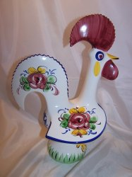 Rooster, Ceramic, Decorated, Portugal