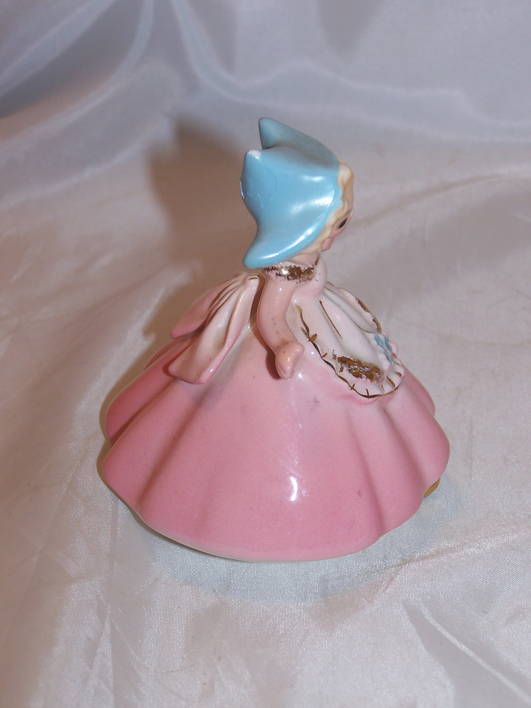 Image 3 of    Josef Originals Dutch Girl in Pink Dress Figurine, Japan