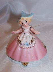 Josef Originals Dutch Girl in Pink Dress Figurine, Japan