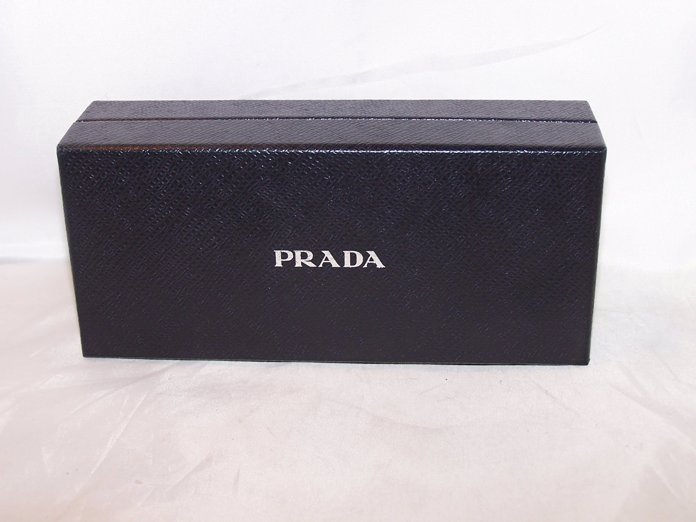 Prada Box, Black w Silver, Rectangular