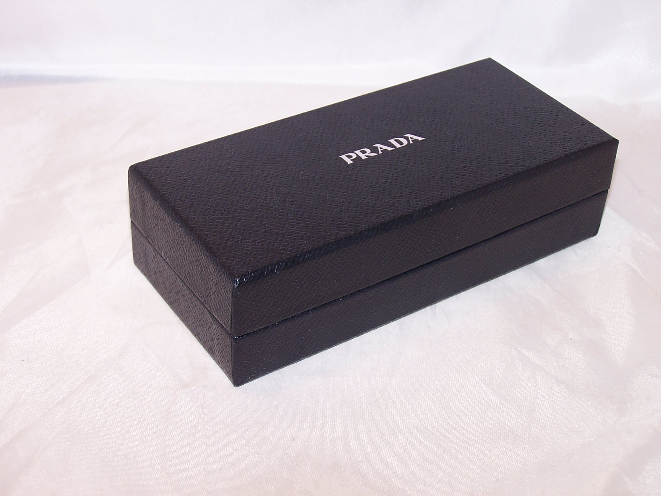 Image 1 of Prada Box, Black w Silver, Rectangular