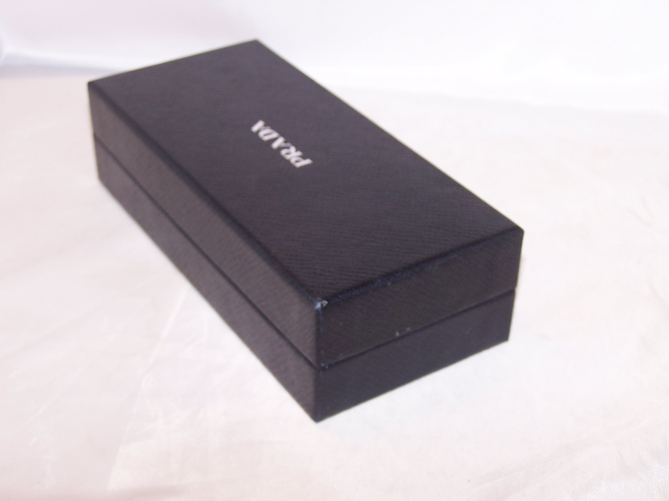 Image 4 of Prada Box, Black w Silver, Rectangular