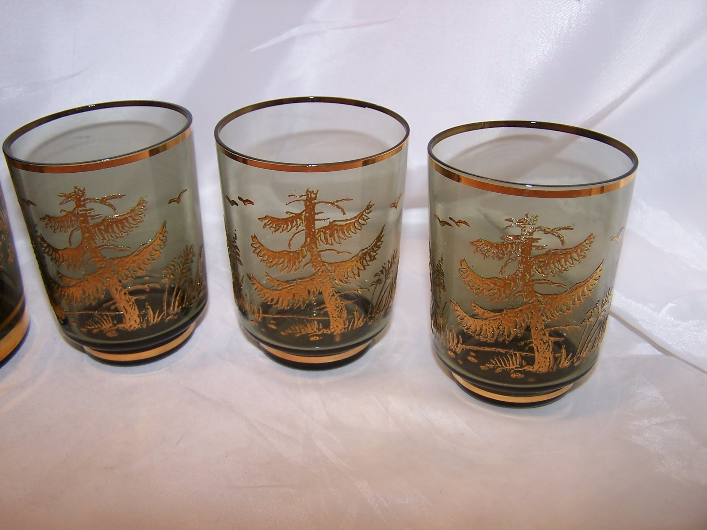 Image 1 of Bohemia Crystal Decanter, Glasses, Mid Century Modern Czech