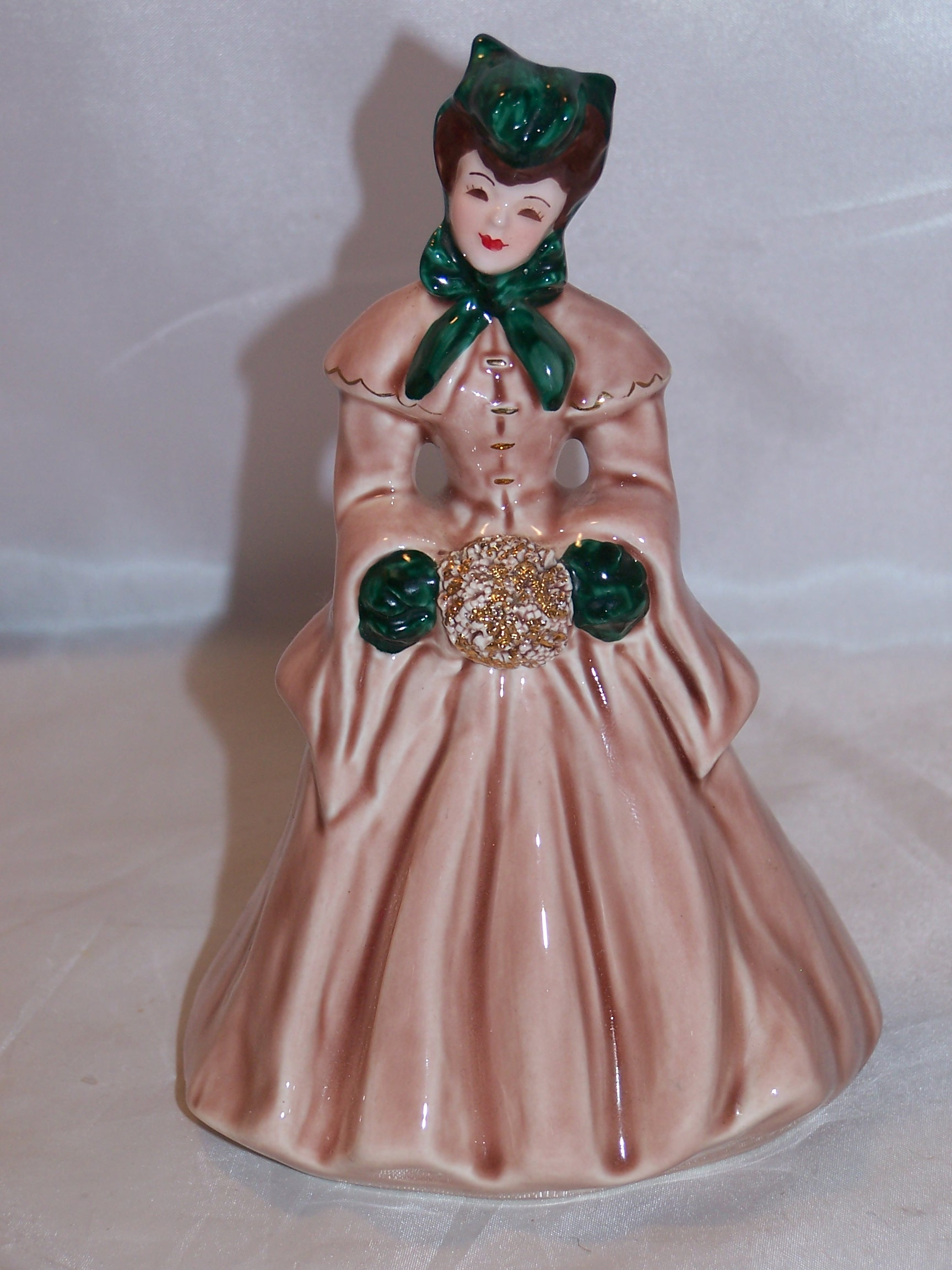 Florence Ceramics, Elaine, Victorian Lady in Winter Garb, California
