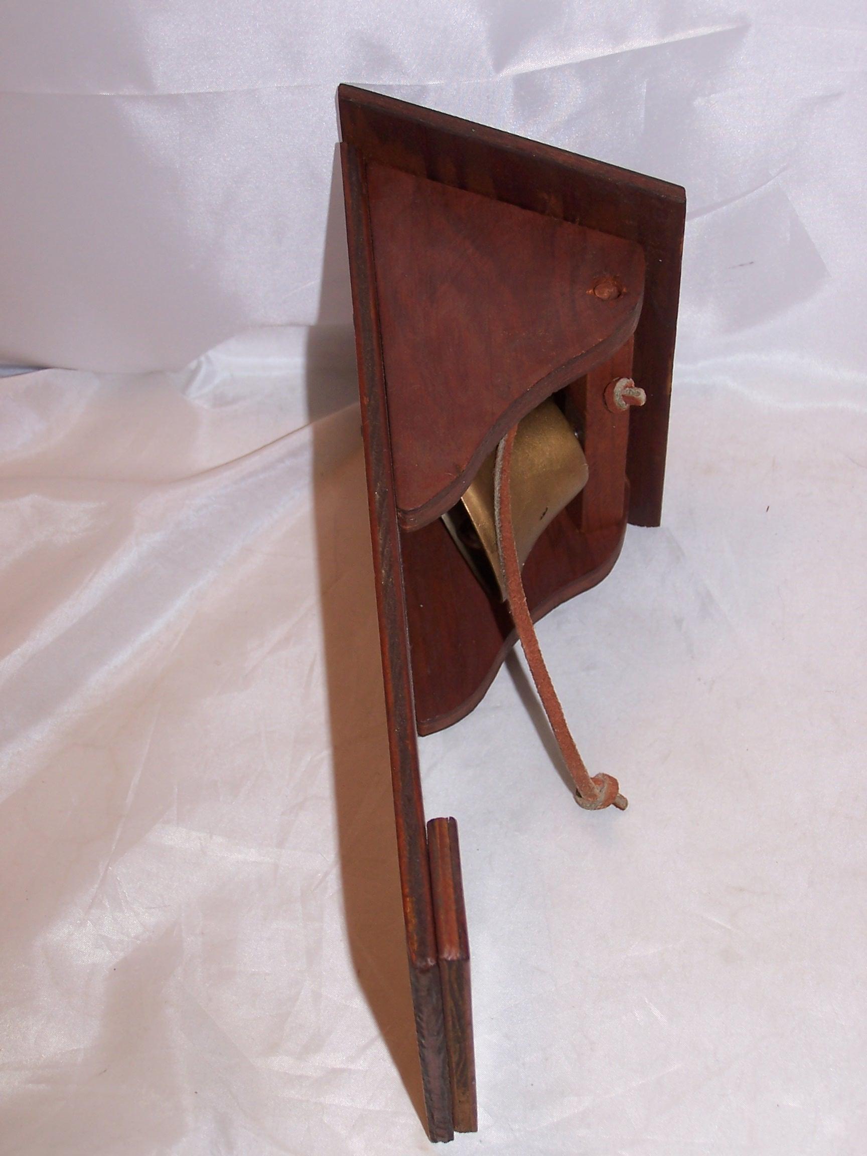 Image 4 of Cowboy Dinner Bell, Wood, Metal, Vintage