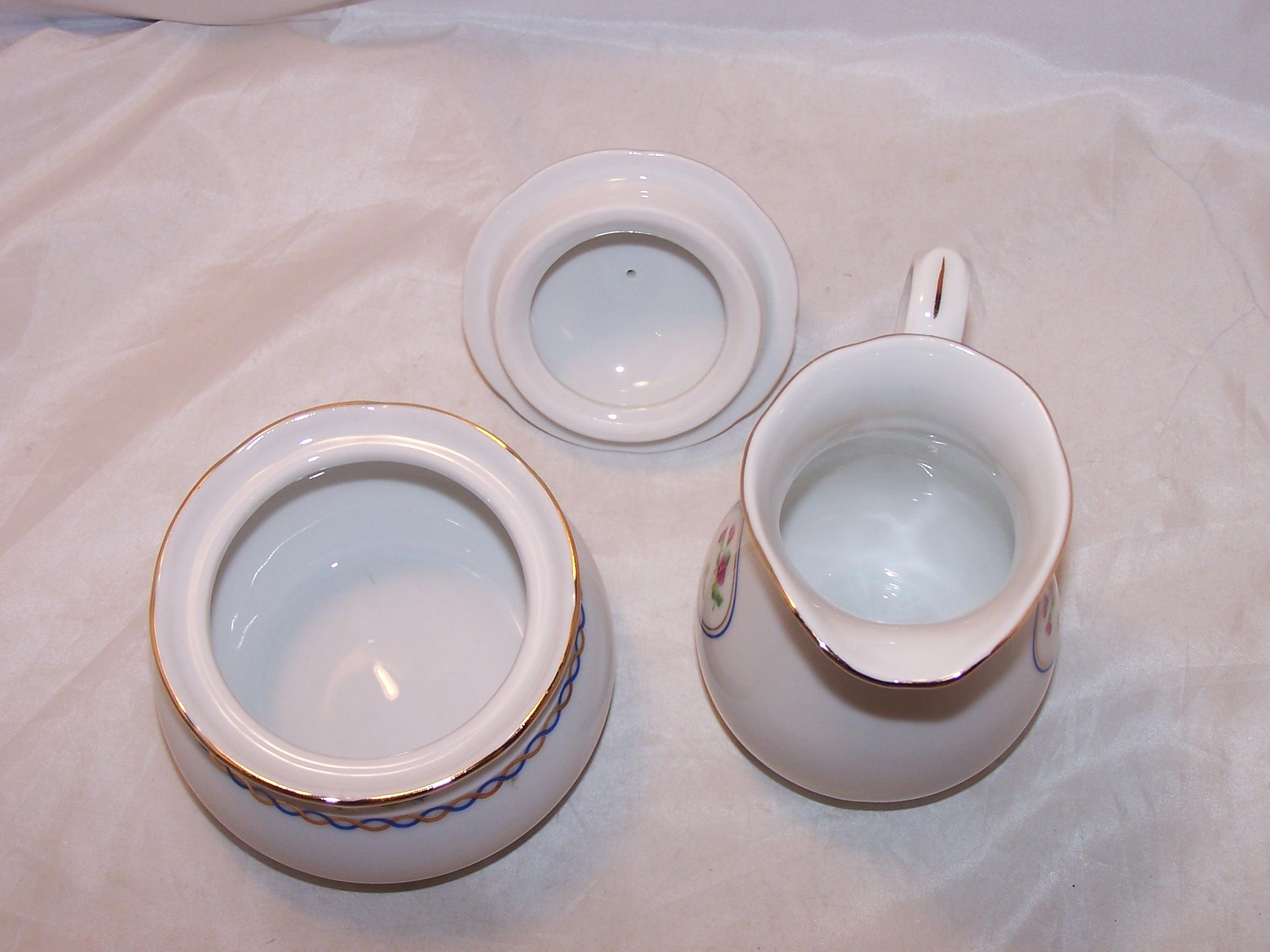 Image 4 of Baum Bros Thun Porcelain Creamer and Sugar, Czechoslovakia