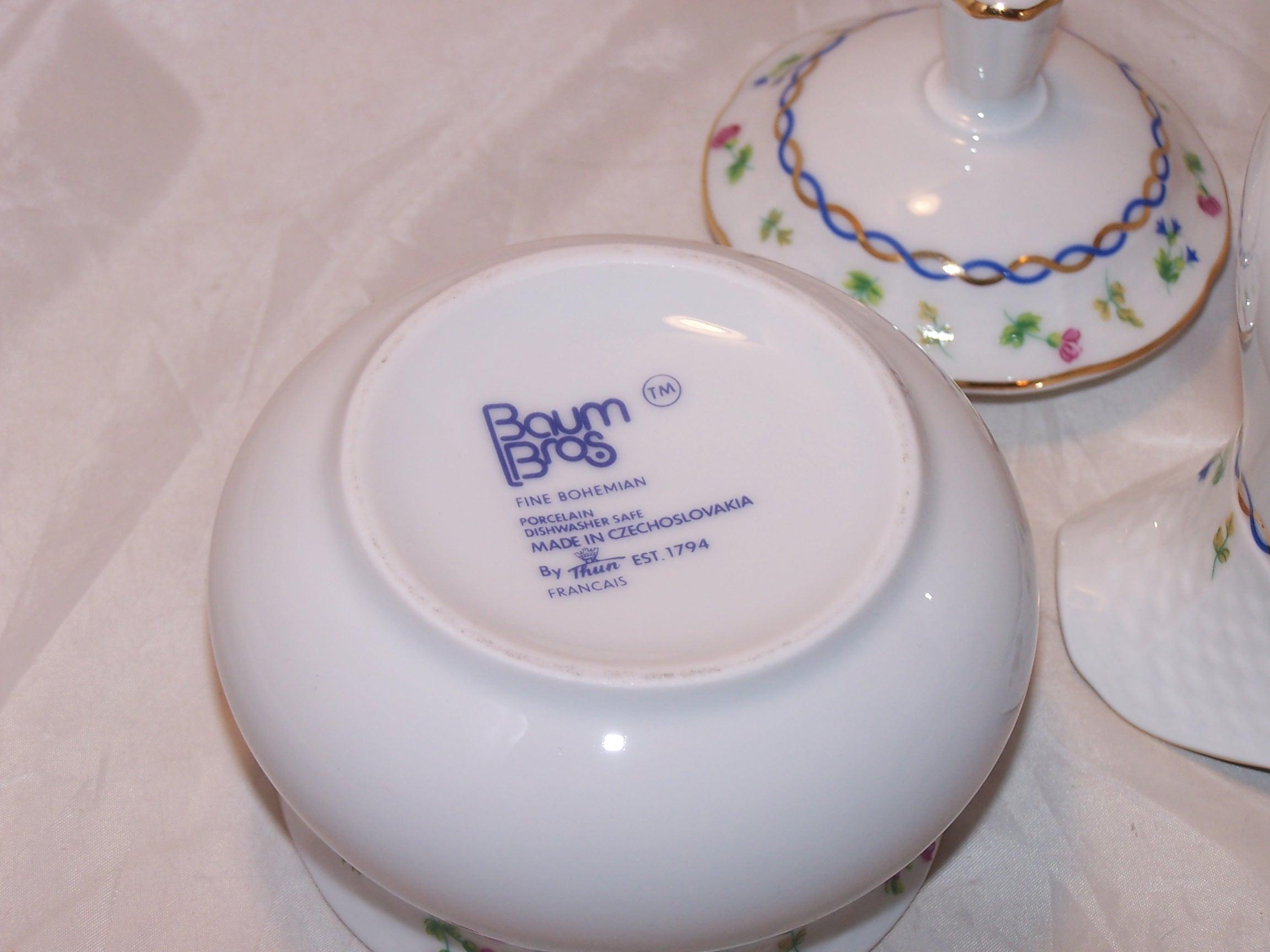 Bottom of sugar bowl