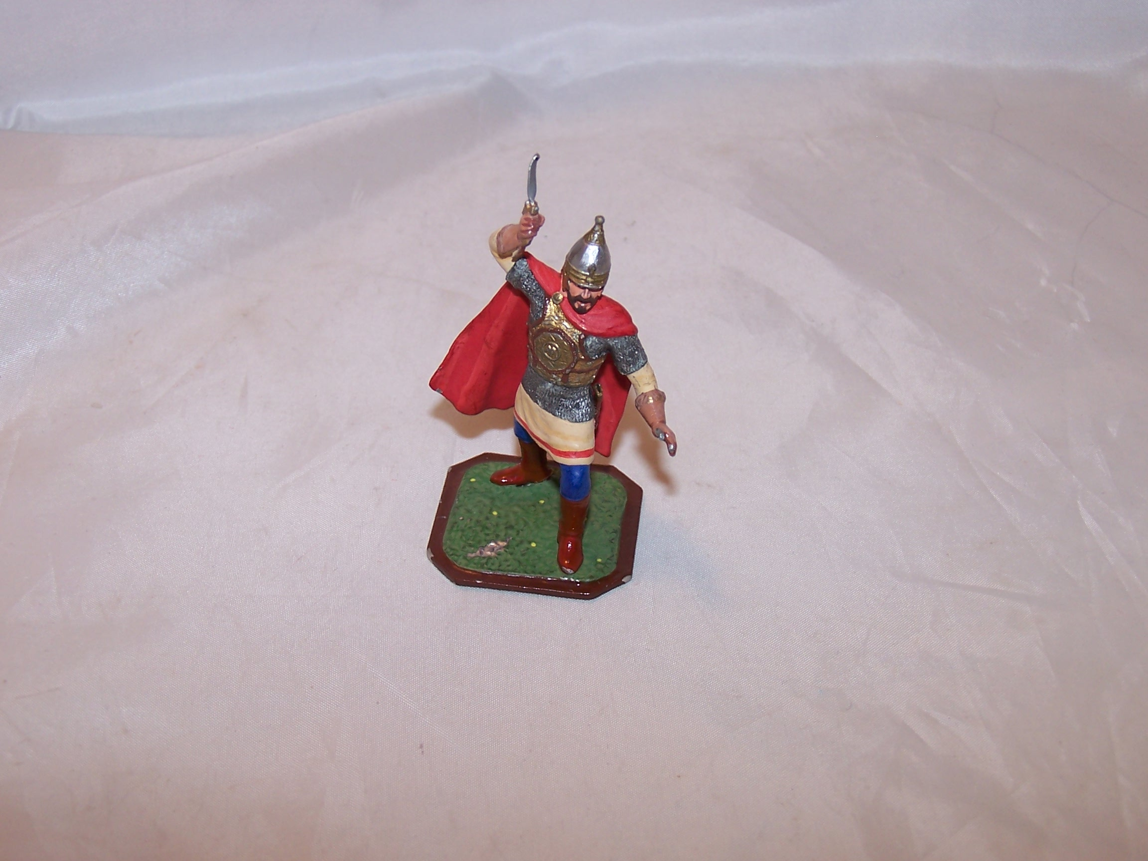 Roman Soldier, Painted Metal, Signed, Highly Detailed