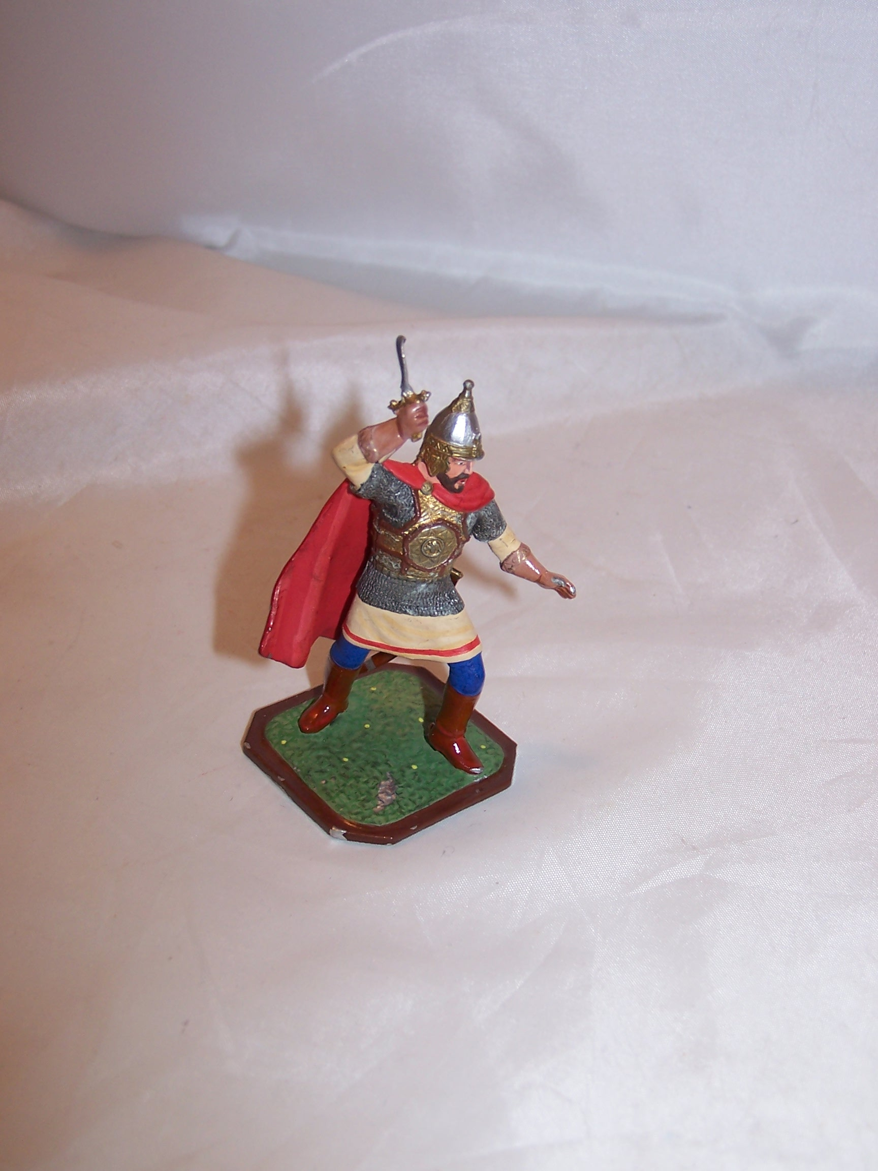 Image 1 of Roman Soldier, Painted Metal, Signed, Highly Detailed